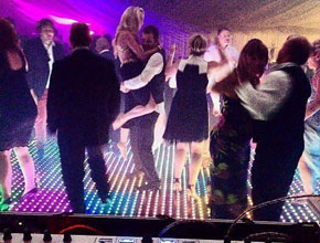 LED dancefloor at party